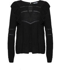 noella farrah blouse black