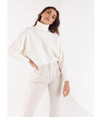 suéter tejido para mujer manga larga con textura de rayas