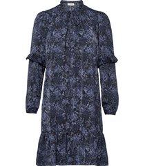recycle polyester dress ls dresses everyday dresses blå rosemunde