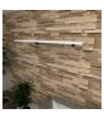 prateleira para sala mdf suporte tucano cor branco 90(c)x30(p)cm modelo pratslb01