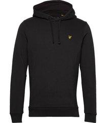 panelled hoodie hoodie trui zwart lyle & scott