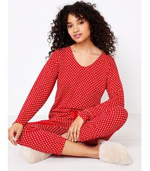 loft petite heart cozy pajama top