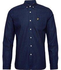 denim shirt skjorta casual blå lyle & scott