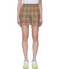 side stripe vintage check shorts