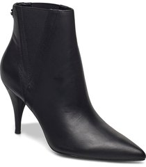 rashel/stivaletto /lea shoes boots ankle boots ankle boot - heel svart guess