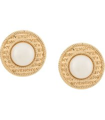 givenchy pre-owned 1980's oversized clip-on earrings - gold