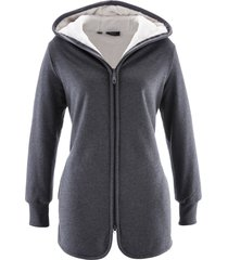 giacca in felpa con pile (grigio) - bpc bonprix collection