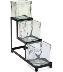 mind reader 3 compartment tiered condiment server jar stand