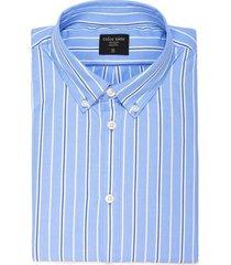 camisa murray a rayas para hombre - azul