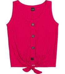 regata canelada com nã³ frontal feminina rovitex vermelho - vermelho - feminino - dafiti