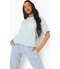 oversized cupido t-shirt, pale blue