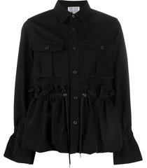 comme des garçons noir kei ninomiya buttoned drawstring-waist jacket -