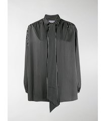 balenciaga striped scarf blouse