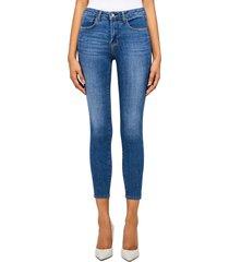 women's l'agence margot high waist crop jeans, size 26 - blue