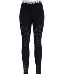 moncler leggings in elastic fabric with logo
