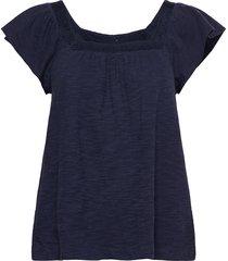 t-shirts blouses short-sleeved blå esprit casual