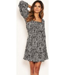 ax paris women's floral square neck swing dress