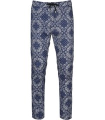 department 5 printed canvas trousers