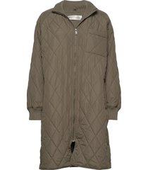 ektraiw quilted coat doorgestikte jas groen inwear