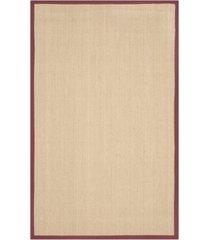 safavieh natural fiber maize and burgundy 4' x 6' sisal weave area rug