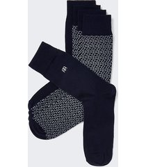 river island mens navy rr monogram socks 5 pack