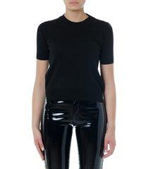maison margiela black cotton iconic t-shirt