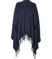 poncho le lis blanc fatima dark blue tricot azul marinho feminino (dark blue, un)