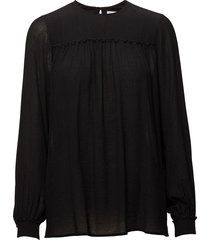 crinkle blouse blouse lange mouwen zwart filippa k