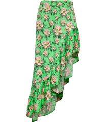 rie knälång kjol grön custommade