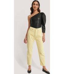 mango jeans med rak passform - yellow