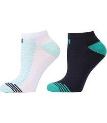 geo striped socks, 2 pair pack, women's, white, josie