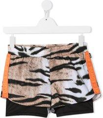 molo teen animal print shorts - neutrals