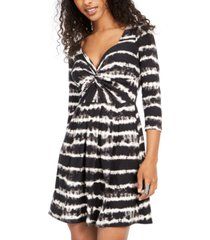 planet gold juniors' tie-dye twist-front dress