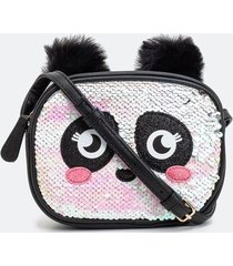 bolsa infantil panda com paetês - tam u