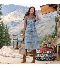 sundance catalog women's bridgette denim dress in vntg wash medium