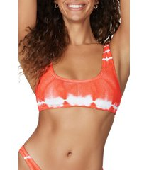 women's bound by bond-eye the malibu bikini top, size one size - coral (nordstrom exclusive)