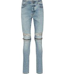 amiri mx2 bandana-detail skinny jeans - black