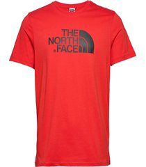 m s/s easy tee t-shirts short-sleeved röd the north face