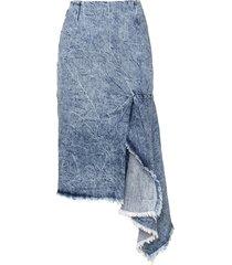 balenciaga side godet skirt in blue