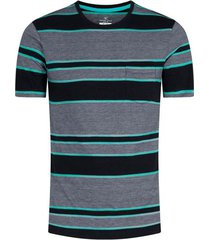 camiseta de rayas cuello redondo hombre 01947