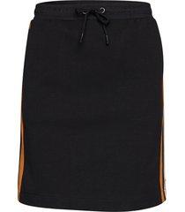 colorblock sweat skirt knälång kjol svart scotch & soda