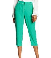 guess groene chino pantalon hoge taille