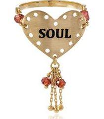 anel whises soul amarelo com contas facetadas - 17