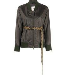 bazar deluxe belted bomber jacket - green