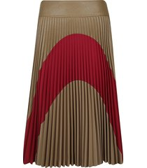 stella mccartney pleated flared skirt