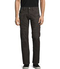 cult of individuality men's rebel straight-fit distressed jeans - beluga - size 30