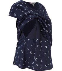 camicetta prémaman / da allattamento in georgette (blu) - bpc bonprix collection