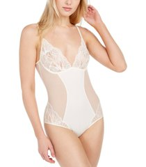 calvin klein women's perfectly fit iris lace bodysuit qf5764