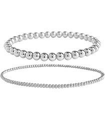2-piece beaded stretch bracelet set