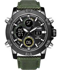 correa nylon reloj moda smael multi dials militar deportivo
